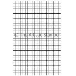Graph paper background size A6 ( cut out and mounted on cling cushioning)