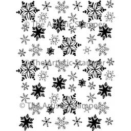 Snowflake Background ( cut out & mounted on Cling Foam)
