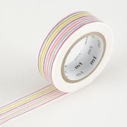Washi Tape -Enpitsu Border 15mm x 10m
