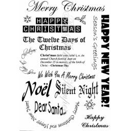 Christmas Greetings # 2 A5 (cut out and mounted on cling cushioning)