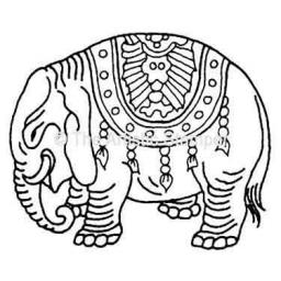 Elephant (cut out and mounted on cling cushioning)