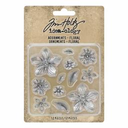 Tim Holtz Ideaology - Adornments -Floral
