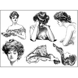 Gibson Girls 1 A5 (cut out and mounted on cling cushioning)