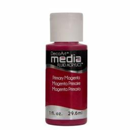 DecoArt Media Fluid Acrylic - Primary Magenta