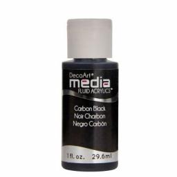 DecoArt Media Fluid Acrylic - Carbon Black