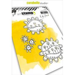 Carabelle - Cling Stamp A6 : Sunflower Doodles by Kate Crane