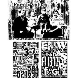 Family Values A5 (cut out and mounted on cling cushioning)