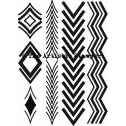 Chevron Elements (cut out and mounted on cling cushioning)
