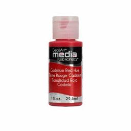 DecoArt Media Fluid Acrylic- Cadmium Red Hue