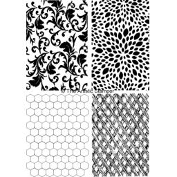 MIni Backgrounds # 3 size A6 ( cut and mounted on cling cushioning )