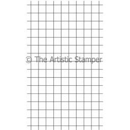 Grid background size A6 (cut out and mounted on cling cushioning)