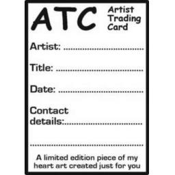 ATC 3 Rubber Stamp size 6cm x 9 cm ( cut and mounted on cling cushioning )