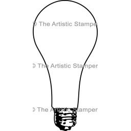 Large Light bulb size 115 mm x 57 mm (cut out and mounted on cling cushioning)