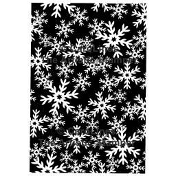 "Palette Snowflakes Background size 6"" x 4"" C181 © CaroLines (cut out and mounted on cling cushioning)"