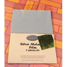Silver Metallic Film 5 sheets x 4