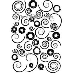 Decay Swirl Background size A6 (cut out and mounted on cling cushioning)