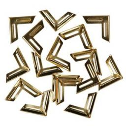 Metal corners, Gold-plated, 19x19 mm, inner size: 5 mm pack of 12