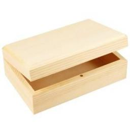 Wooden Box size 14 x 9 x 5cm with magnetic clasp