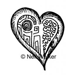 Mini Heart © Neil Walker ( cut and mounted on cling cushioning )