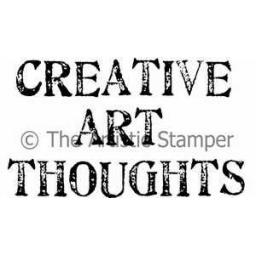 Creative Art Thoughts (cut out and mounted on cling cushioning)