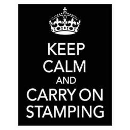 Keep Calm and carry on.. (cut out and mounted on cling cushioning)
