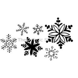 Snowflakes (cut out and mounted on cling cushioning)
