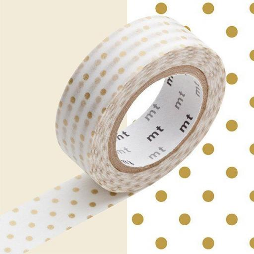 Washi Tape - Gold Dot S 15mm x 10m