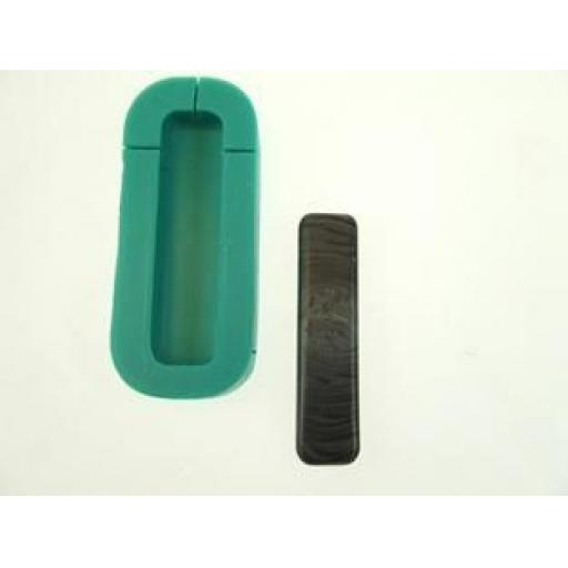 Karantha Silicone Mould- Oblong with finding slits