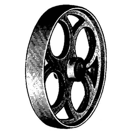 Metal Wheel (cut out and mounted on cling cushioning)