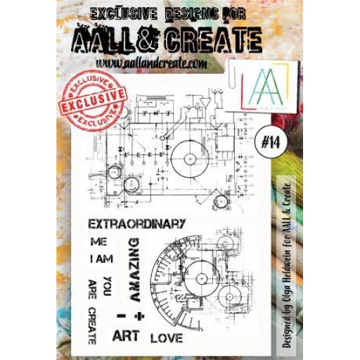 AALL & CREATE clear stamp #14