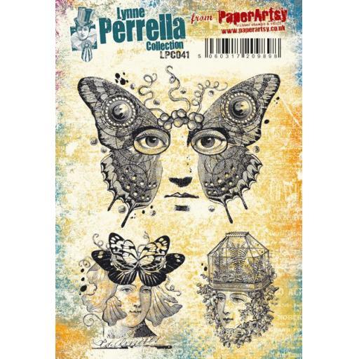 PaperArtsy - Lynne Perrella LPC041 (A5 set, cling-foam trimmed)