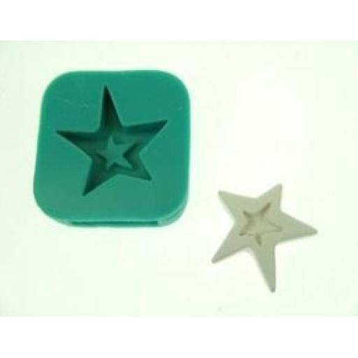 Karantha Silicone Mould- Quirky Star with finding slits
