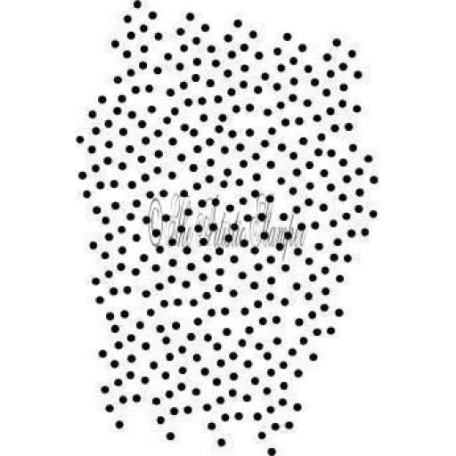 Random Dot Background 11.5 cm x 7.5 cm (cut out and mounted on cling cushioning)