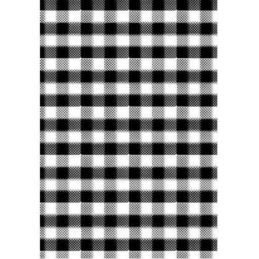 Plaid Background size A6 (cut out and mounted on cling cushioning)