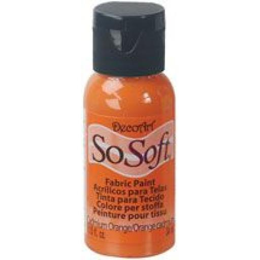 DecoArt Sosoft Fabric paint Cadmium Orange
