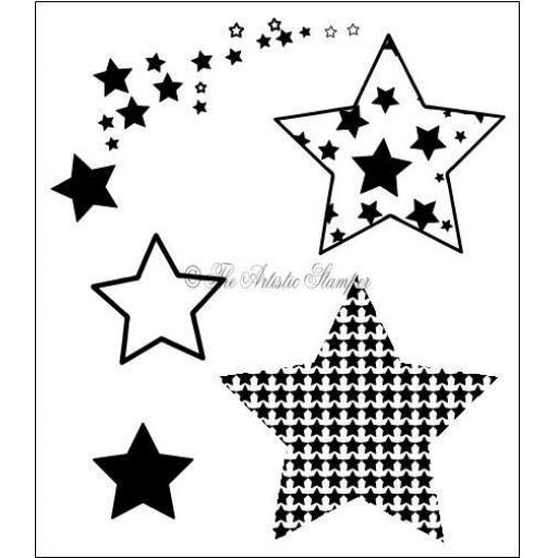 Star Plethora (cut out and mounted on cling cushioning)