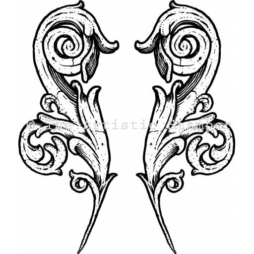 Ornate Flourish 2 (cut out and mounted on cling cushioning)