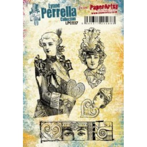 PaperArtsy - Lynne Perrella LPC037 (A5 set, cling-foam trimmed)