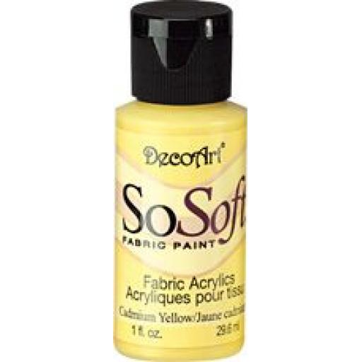 DecoArt SoSoft fabric paint - Cadmium Yellow Hue