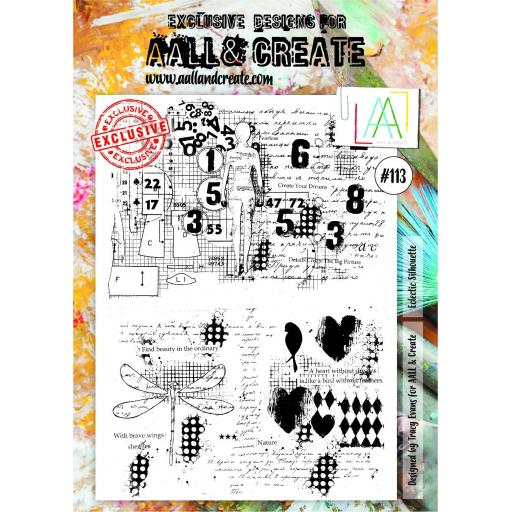 Aall & Create - #113 - A4 Stamps