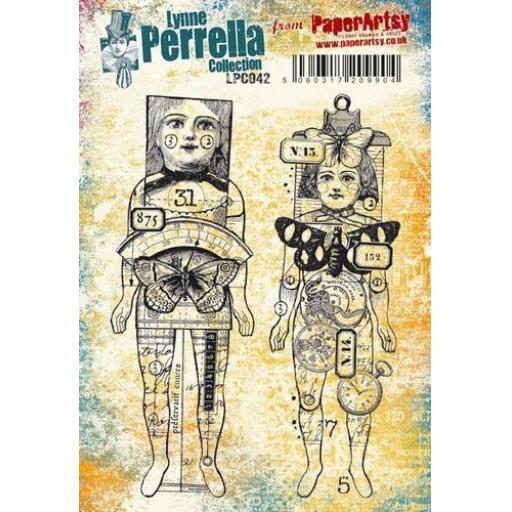 PaperArtsy - Lynne Perrella LPC042 (A5 set, cling-foam trimmed)