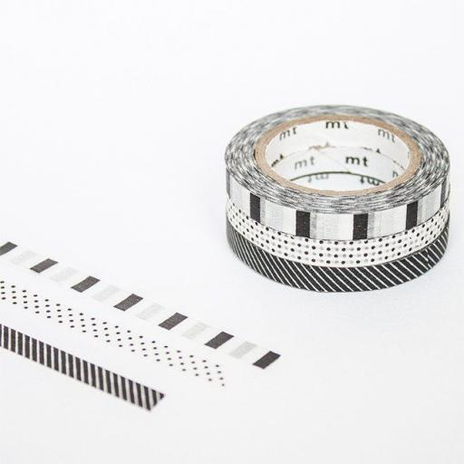 Washi Tape - Slim Deco F x 3 rolls 6mm x 10 m