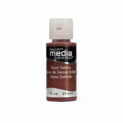 DecoArt Media Fluid Acrylic - Burnt Sienna