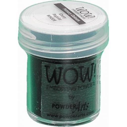 WOW! Embossing Powder Primary Ebony Superfine 15ml