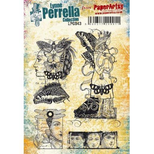 PaperArtsy - Lynne Perrella LPC043 (A5 set, cling-foam trimmed)