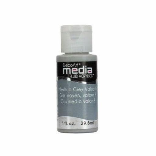 DecoArt Media Fluid Acrylic - medium Grey Value 6