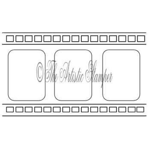 Film Strip 8.5 x5 cm approx (cut out and mounted on cling cushioning)