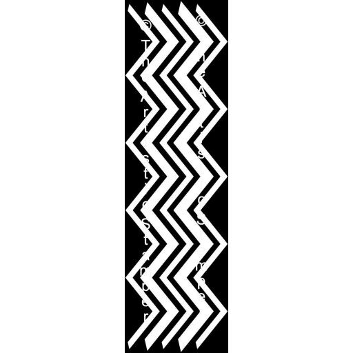 "The Artistic Stamper Mask Zig Zag Long 4"" x 11"" approx"