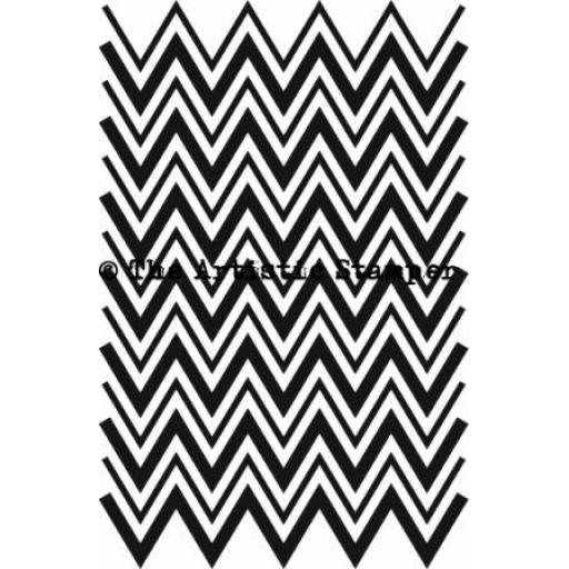 Chevron background size A6 ( cut and mounted on cling cushioning )