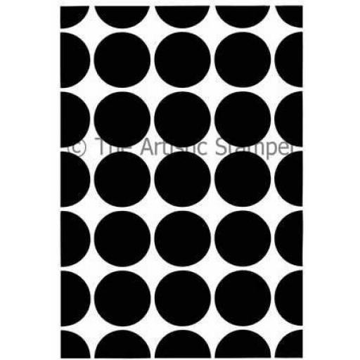 Large Dotty Closed Background size A6 (cut out and mounted on cling cushioning)